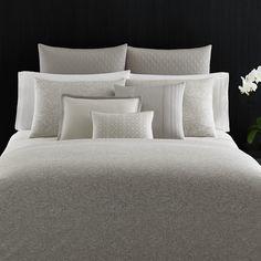 Vera Wang Bamboo Rayon Leaves Duvet Cover