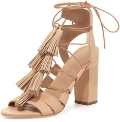 a50cdc73cd39 Loeffler Randall Luz Tassel Lace-Up Leather Sandal