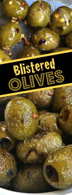 My new favorite way to eat olives! Simply saute them with lots of garlic, oil and spices. These are the perfect keto snack and party appetizer! So addicting. #instrupix #greenolives #olives #partyappetizer #partyfood #keto #lowcarb
