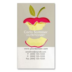 Dietician NutriTionist Weight Loss Health Business Cards. This great business card design is available for customization. All text style, colors, sizes can be modified to fit your needs. Just click the image to learn more!