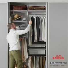 Design the custom closet of your dreams with Elfa! Contact us today for a free custom design.