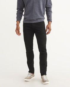 A&F Men's Athletic Slim Jeans in Black - Size 30 X 32
