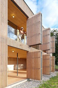 Wood Architecture Johannes Kaufmann - Atelier Dreibholz, Semriach Via (thanks BFC), photos (. Bamboo Architecture, Facade Architecture, Contemporary Architecture, Contemporary Stairs, Contemporary Building, Contemporary Wallpaper, Contemporary Chandelier, Contemporary Landscape, Facade Design