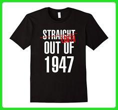 Mens 70 Years LGBTQ Straight Outta 1947 70th Birthday Gift Shirt 2XL Black - Birthday shirts (*Amazon Partner-Link)