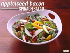Applewood Bacon Spinach Salad #recipe #hormelfoods #salad