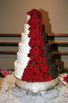 Wedding Colors Red And Brown Velvet Devils Food Layered Inside
