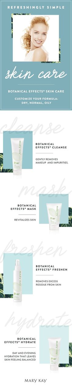 Easy beauty solutions? Yes, please! Whether you have dry, normal or oily skin, our refreshingly simple skin care allows you to customize your formula to fit your needs.