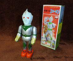 Bullmark Mirror Man. Tin Walker Toy 70s.