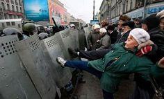 Riot squad versus the People,