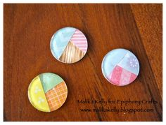 Create a pie chart epoxy with the #epiphanycrafts Shape Studio Tool Round 25 available at #MichaelsStores www.epiphanycrafts.com #scrapbook #layout