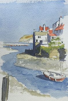 https://flic.kr/p/uthkWt | Another of my demo pieces: this from an evening with Tockwith Art Group on Monday 29 June. The subject was chosen by the members-Staithes, a favourite of mine.