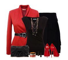 Rojo con negro.. El diablo viste a la moda