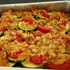 We don't eat zucchini very often, we maybe just need a good recipe to make them! This tomato zucchini casserole will blow your minds! Check it out.    You'll Need:    1 ½ cups of grated cheddar cheese.  ¼ cup