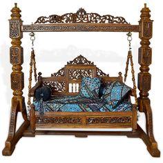 Solid Sheesham Bleach double tone polish Special Dolli Jhoola swing #BigJhulaSwing #BrassChainJhoolaSwing #BrownIndoorSwings #CarvedJhoolaSwing #ContemporaryIndoorSwings #DivanJhoolaSwing  #HandCraftedJhoolaSwing  #IndianJhoola #IndianSwing #JhulaSwing  #MaharajaJhulaSwing  #PaintedJhoolaSwing #PaintedSwing   #RajasthaniJhoola #RajasthaniJhula  #TeakWoodJhulaSwing #TraditionalIndoorSwings  #WoodenCarvedJhoolaSwing #WoodenIndoorSwings Indian Swing, Marble Carving, States Of India, Mirror Work, Jodhpur, Teak Wood, Porch Swing, Outdoor Furniture, Outdoor Decor