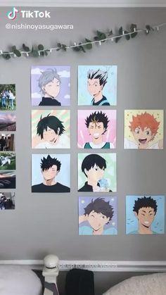 Cute Room Ideas, Cute Room Decor, Anime Crafts, Kawaii Room, Indie Room, Aesthetic Room Decor, Room Ideas Bedroom, Haikyuu Anime, Aesthetic Anime