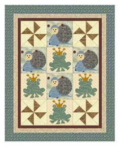 Baby boys Quilt Pattern    Frogs Snails & by KinderGardenDesigns, $10.60