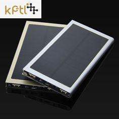 KPTL Solar Power Bank Dual USB Power Bank 20000 mAh Batteria Esterna Caricatore Portatile Bateria esterna per il telefono Mobile
