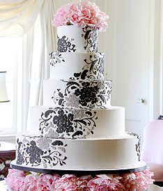 cool cake design, but I could do without the flowers on top and bottom