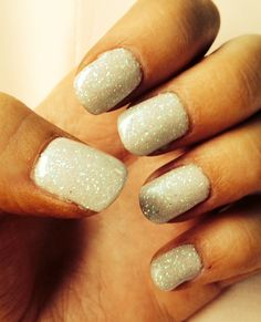 Wedding nails #sparkles