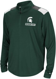 d6e891f71 Colosseum Michigan State Spartans Youth Green 99 Yards Long Sleeve Quarter  Zip Shirt - 15038977