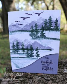 Canopy Crafts: Purple Mountain Majesty for CTD Featured Stamper
