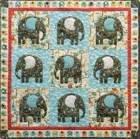 free pattern, Jungle elephants quilt, square, by Hilary Gooding for Andover Fabrics. Includes template for elephant (this is not a panel quilt). Cute Quilts, Small Quilts, Baby Quilts, Children's Quilts, Elephant Quilts Pattern, Elephant Applique, Elephant Crafts, American Quilt, Quilt Patterns Free