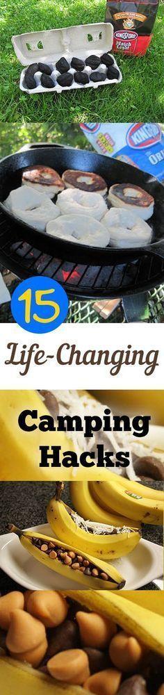 15 Life-Changing Camping Hacks camping hacks, #camping #lifehack