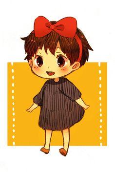 Kiki's Delivery Service | studio ghibli | adorable | Tags: Anime, Studio Ghibli, Majo no Takkyuubin, Kiki (Majo no Takkyuubin), Hal (Honobono Bousouzoku)