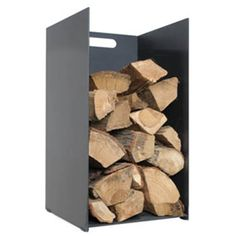 Simple, yet effective the Stovax 3402 Small log store does what it says it does. Freestanding log stores and holders are the perfect fireside compa. Firewood Holder, Firewood Storage, Log Store Indoor, Stove Fireplace, Fireplace Accessories, Wood Boxes, Modern Rustic, Home Interior Design, Fireplaces