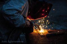 Utah High School Senior Portraits, welding, skill