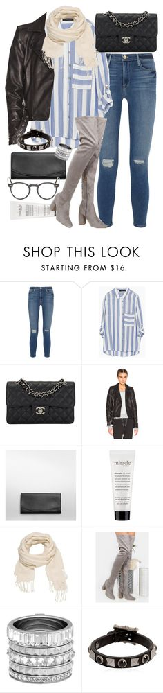 """Untitled #6484"" by ashley-r0se-xo ❤ liked on Polyvore featuring Frame Denim, Zara, Chanel, Unravel, Skagen, philosophy, maurices, Henri Bendel, Valentino and Oliver Peoples"