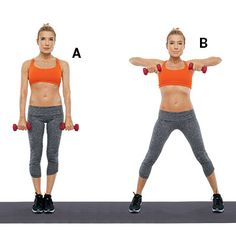 Jumping Jack Arm Lift: Combine these strength training exercises from Tracy Anderson with a cardio routine for strong and sculpted arms. #HEALTHxTA | Health.com