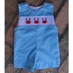 Smocked Crab Jon Jon from Smocked Auctions - got this one for my soon to arrive nephew so he can coordinate with his big cousin!