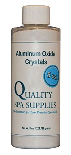 Aluminum Oxide Crystals - Microdermabrasion Crystals - 120 Grit, Pure White, 8oz by Quality Spa Supplies -- Awesome products selected by Anna Churchill