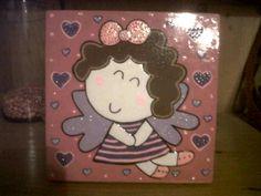 Caja, con imagen de angelita!