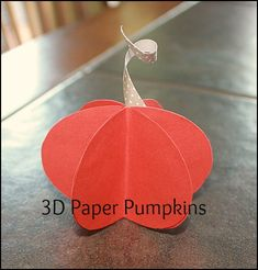 So fun easy craft 3D Paper Pumpkins #fall #crafts  from @lookwhatmomfound