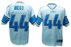 Jahvid Best Jersey, Reebok #44 Detroit Lions Authentic NFL Jersey in White