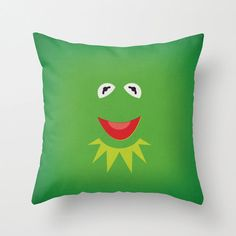 The Muppet Show Kermit the Frog Minimalist Pillow by www.etsy.com/shop/TheRetroInc