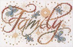 Family Cross Stitch Kit | sewandso