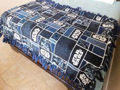 Star Wars Fleece Blanket/Throw by ScarlettMonkeyCrafts on Etsy