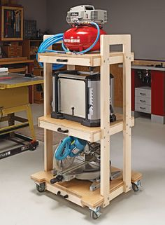 Workshop storage plans, including shop cabinets and shelves, tool chests and stands, benchtop organizers, and more. Garage Workshop Plans, Workshop Storage, Workshop Organization, Storage Organization, Garage Plans, Workshop Ideas, Woodworking Workbench, Woodworking Workshop, Woodworking Crafts