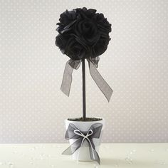 Black topiary tree for the tables