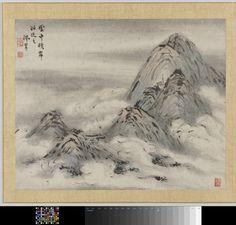Schildering, Gao Qipei, 1700 - 1750