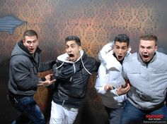 Hilarious haunted house reactions - we have our very own picture just like this!!!