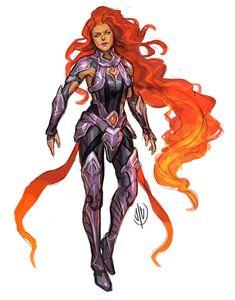Starfire trailer for Injustice 2 (plus Bizarro premier skin . Teen Titans, Comic Books Art, Comic Art, Supergirl Crossover, Starfire Dc, Arte Dc Comics, Superhero Design, Female Superhero, Dc Comics Characters