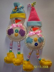 Two Snowmen BY CREEPETZ @Tony Gebely Gebely Gebely Wang: Snowmen....Holidays in a cake! (Google Translated)