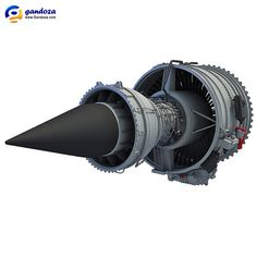 Rolls-Royce Trent 1000 Turbofan Aircraft Engine 3D Model