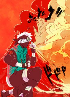 Kakashi - fire breathing technique