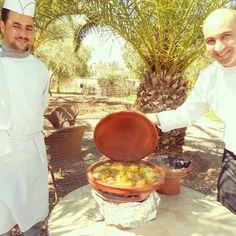 Sunday tajine @ Hotel Les Deux Tours Marrakech with chef Youness M'Gani in the garden, Bon appétit !