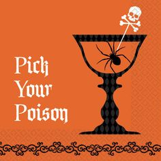 36 X SHOCKTAILS 'PICK YOUR POISON' HALLOWEEN GOTHIC PARTY BEVERAGE NAPKINS